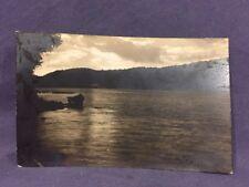 Lake at sunset real photo postcard