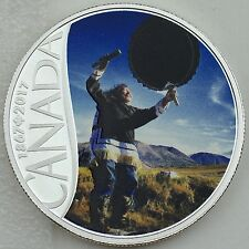 2017 $10 Celebrating Canada's 150th: Drum Dancing, Pure Silver Color Matte Proof