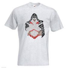 Attentäter Herren Bedrucktes T-Shirt Film Spiel Creed Legacy Bruderschaft Templer Text