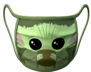 Disney Store STAR WARS Mandalorian The Child BABY YODA Face Mask Medium Youth