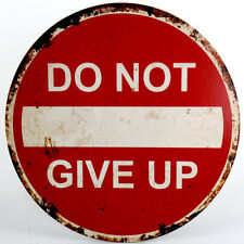 """Schild """"DO NOT GIVE UP"""" 40cm  Wandschild Wanddeko Holzschild Wandtattoo Wandbild"""