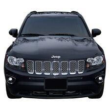 For Jeep Compass 2011-2017 SES Trims 7-Pc Chrome Mesh Main Grille