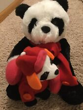 "Chantilly Lane Duets Musical Panda ""Button Up Your Overcoat"" Christmas Plush"