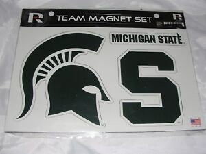 Michigan State Spartans Green White TEAM MAGNET SET Official Licensed