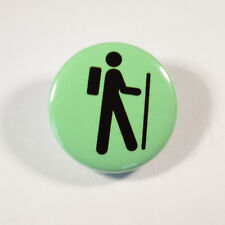 "HIKER HIKING MOUNTAINS Badge/Button GIFT with METAL PIN ( Size is 1"" / 25mm)"