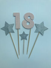 Handmade Set of large cake toppers for a special 18th birthday