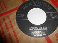 John Greer and Damita Joe- lonesome and blue -R&b 45  vg  vg+plays vg+
