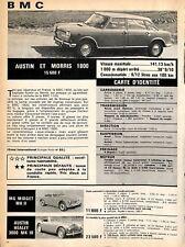 "AUTOMOBILES BMC "" AUSTIN MORRIS 1800 "" ADP 1966"