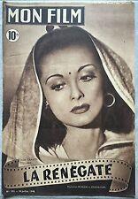 Magazine MON FILM n°102 LA RENEGATE Jacques Séverac LOUISE CARLETTI 1948*