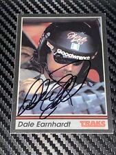 Dale Earnhardt autographed card 1991 TRAKS #3 GOODWRENCH NASCAR HALL OF FAMER
