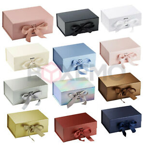Gift Box With Ribbon, Various Colours & Sizes, Large Gift Box, Magnetic Boxes