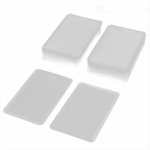 Plastic Office Name Tag Bussiness ID Card Badge Holders Transparent 40 Pcs