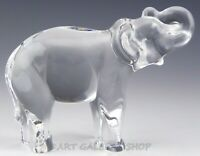 "Baccarat France Crystal Figurine 3-5/8"" ELEPHANT TRUNK UP AFRICAN ANIMAL Mint"