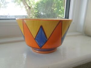 Lovely Clarice Cliff Early Geometric Design Sugar Bowl
