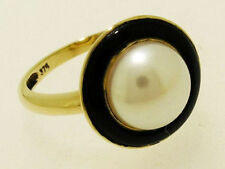 Natural Onyx Yellow Gold Fine Rings
