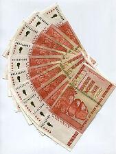 50 Billion Zimbabwe Dollars x 10 pcs AA/AB 2008 P87 VF currency bills lot