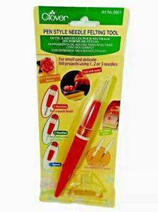 New Clover Pen Style Needle Felting Tool with Adjustable Needle Length Felt