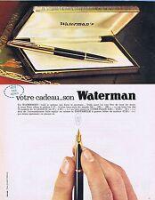 PUBLICITE ADVERTISING 114 1963 WATERMAN stylo à plume