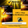 Norton Internet Security 3 PC's / 2017 - 2018 - 1Year  -  License Activation Key
