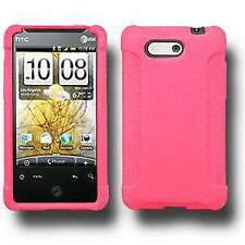 AMZER Silicone Soft Skin Jelly Fit Case Cover for HTC Aria - Baby Pink