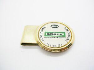 Vintage Money Clip GRACE Agricultural Products Division Fertilizers Pesticides