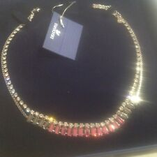 Swarovski Talina Necklace, Rose color Crystal authentic MIB 1181406