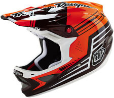 Troy Lee D3 Carbon Full Face MTB / BMX Helmet - Berzerk Red
