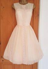 TED BAKER Frejah pale peach chiffon dress - TB size 0 (UK 6) BNWOT