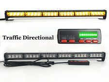 "24 LED 26"" Amber Flash Traffic Directional Advisor Emergency Strobe Light Bar"