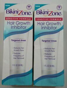 BIKINI ZONE HAIR GROWTH INHIBITOR - SENSITIVE FORMULA - 1oz EACH~~Lot of 2~~