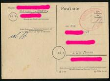 """Ebingen Postkarte """"Gebühr bezahlt"""" #m676"""