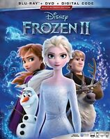 Frozen 2 Disney Bluray + DVD + Digital Code New with Slipcover Free Ship