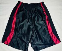 Rare Champion C9 Dazzle Basketball Shorts Shiny Silky Soft Medium Black Red