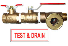 1 Fire Inspector Test Amp Drain Valve With Sight Glass And Sign 12 Orifice