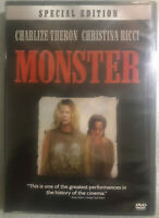 Monster DVD Charlize Theron Christina Ricci  2005, 2-Disc Set, Special Edition)