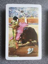 vintage MATADOR/ BULLFIGHTER playing cards - FOURNIER Antonio Casero signed.
