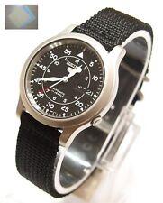 SEIKO 5 SNK809K2 Fabric Band Automatic Men's Black Watch Original & Gift NIB
