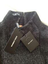 DOLCE & GABBANA £1,450 Women's dark grey wool sleeveless dress, size 8