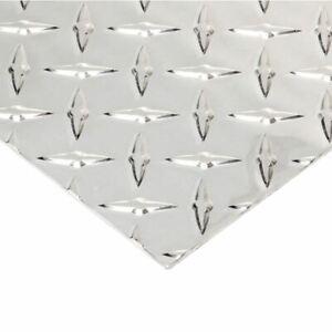 "Aluminum Tread Brite Diamond Plate 0.025"" x 18"" x 48"""