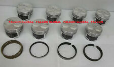 Speed Pro Chevy 327ci Forged Flat Top 4VR Coated Pistons + MOLY rings Set/8 std