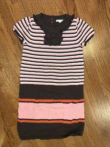 Janie and Jack NWT sz 8 Autumn Classics Sweater Dress Fall Brown Pink