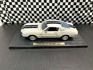 Road Legends 1968 Shelby Mustang GT500KR - White w/Black Stripes - 1:18 Boxed