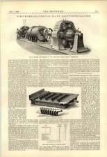 1888 TURBINE DINAMO Swiss Società Metallurgica si posizionano a dondolo FORNO A BARRE