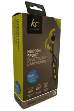 KitSound Hudson Sport Bluetooth Wireless Earphones Reflective Tangle-Free Cable