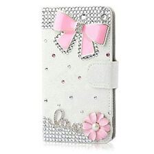 Luxury Bling Diamond Jewelled Crystal Leather Flip Wallet Phone Cards Case Cover