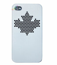 COVER CUSTODIA PER IPHONE 4 4S SEMI RIGIDA SOFT TOUCH CASE BIANCA STELLA NERA