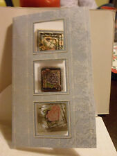 Handmade Decoupage Card with blank insert  3 Windows with flowers inside