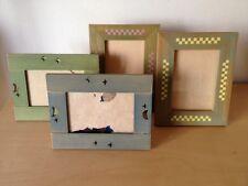 Usados - x4 Wood Frames Marcos de Fotos - Madera Wood Infantiles For Children