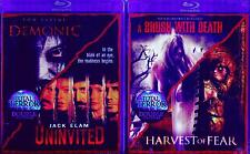 TOTAL TERROR 1-2: Demonic+Uninvited+Brush w/Death+Harvest of Fear NEW 2 BLU-RAY