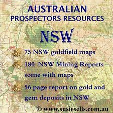 Gold Detecting and Gem Hunting Resources - Goldmaps & Reports for NSW fields.